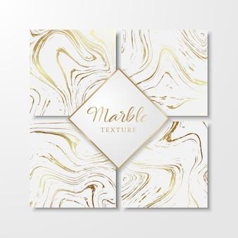 Gouden marmeren ontwerpsjablonen voor uitnodiging, bewaar deze datum, kaarten, posters, brochures, enz. abstracte marmeren achtergrond. vectorontwerp.