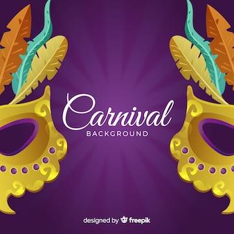 Gouden masker carnaval achtergrond