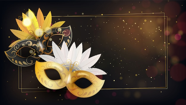 Gouden masker met glitter