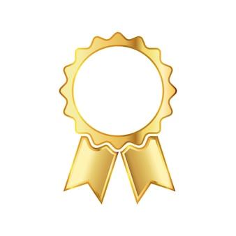 Gouden medaille pictogram met lint
