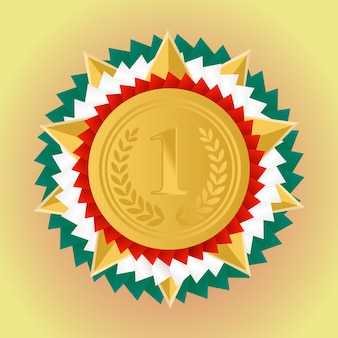 Gouden medaille voor de eerste plaats