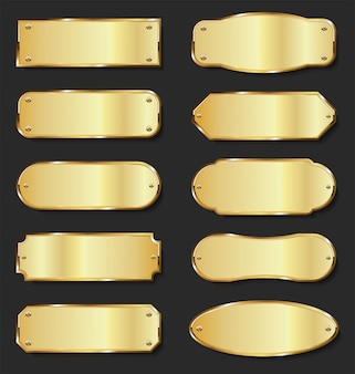 Gouden metalen platencollectie