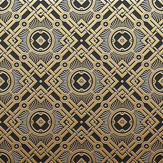 Gouden metallic achtergrond met geometrische patroon. elegante luxe stijl.