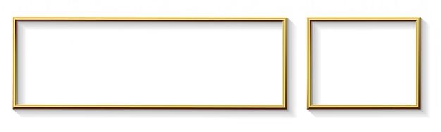 Gouden moderne wide frame design