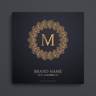 Gouden monogram