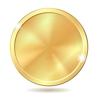 Gouden munt. vectorillustratie geïsoleerd op een witte achtergrond