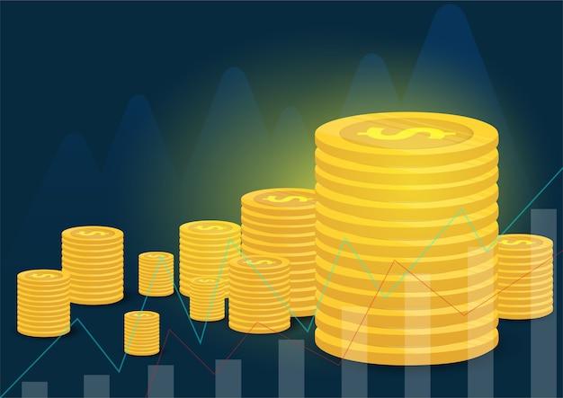 Gouden munten en zakelijke financiën