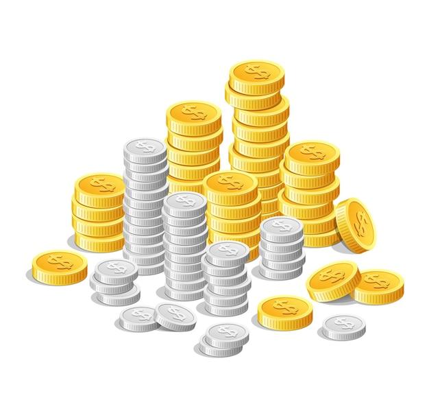 Gouden munten en zilveren munten, geldinvesteringen in contanten