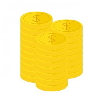 Gouden munten pictogramafbeelding