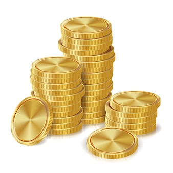Gouden muntenstapels