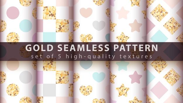 Gouden naadloos patroon.