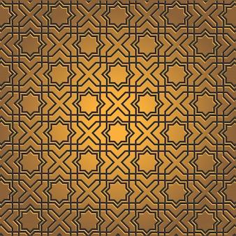 Gouden naadloze patroonachtergrond