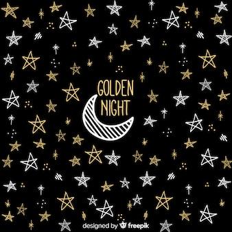 Gouden nacht achtergrond