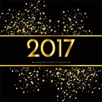 Gouden nieuwe jaar 2017 achtergrond