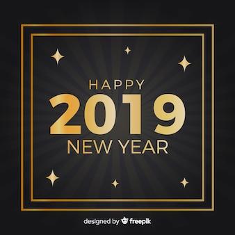 Gouden nieuwe jaar 2019 achtergrond