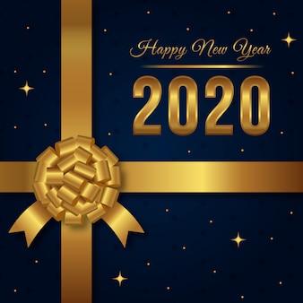 Gouden nieuwe jaar 2020 achtergrond