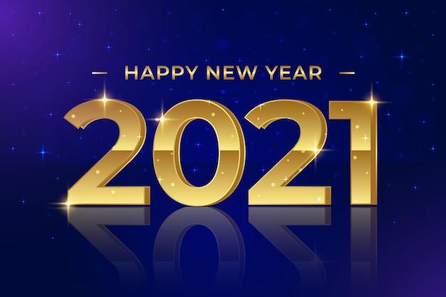 Gouden nieuwe jaar 2021 achtergrond