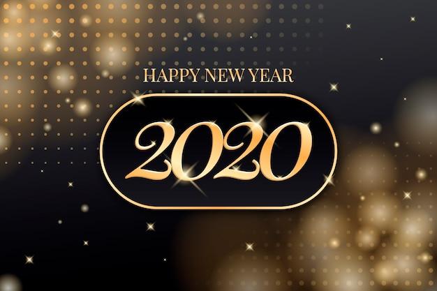 Gouden nieuwe jaarachtergrond