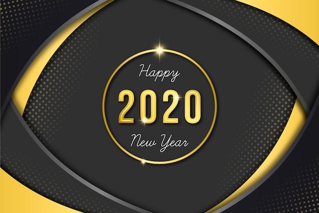 Gouden nieuwjaar 2020 behang