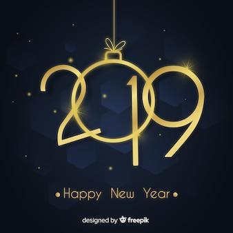 Gouden nummer nieuwe jaar achtergrond