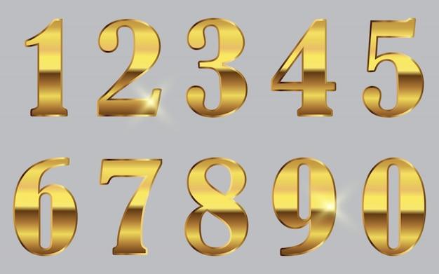 Gouden nummers instellen