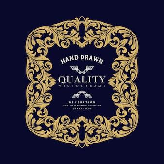 Gouden ornament luxe frame vector