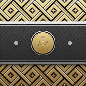 Gouden patroon achtergrond met logo