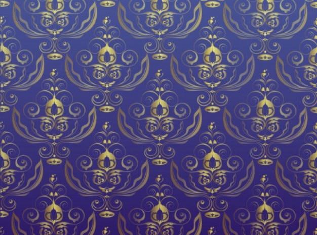 Gouden patroon antieke ornamenten achtergrond