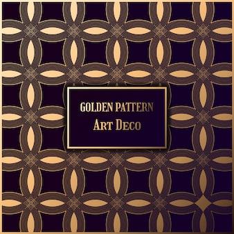 Gouden patroon in stijl gatsby. art decopatroon op donkere achtergrond.