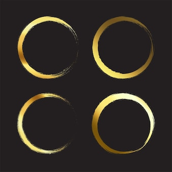 Gouden penseelstreek element penseelornament