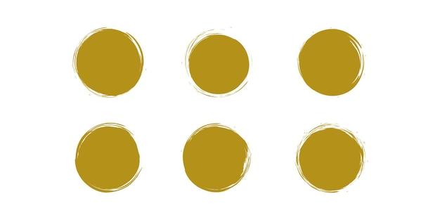 Gouden penseelvector met creatief uniek concept premium vector deel 1