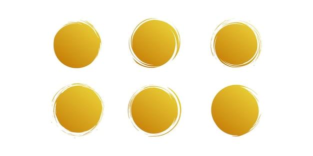 Gouden penseelvector met creatief uniek concept premium vector deel 2