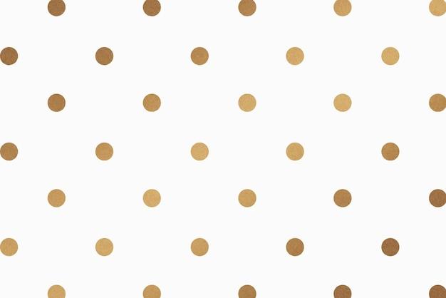 Gouden polka dot glittery patroon achtergrond