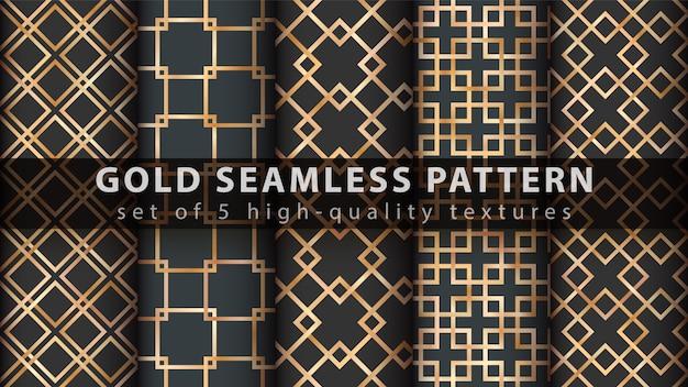 Gouden prinses glitter naadloos patroon