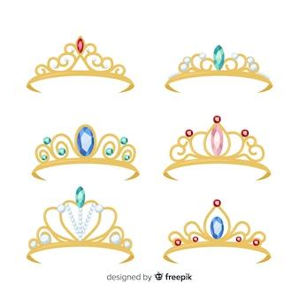 Gouden prinses tiara collectie