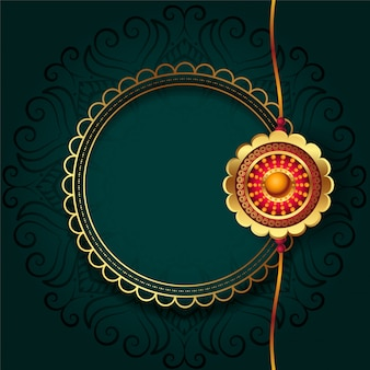 Gouden rakhi voor rakha bandhan festival