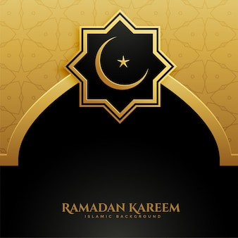 Gouden ramadan kareem achtergrond van de moskeedeur