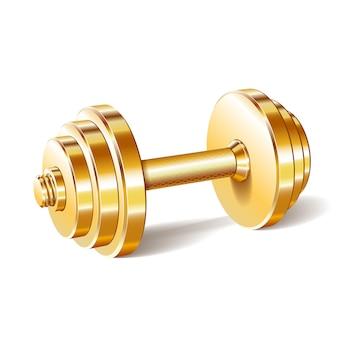 Gouden realistische halter