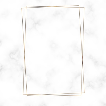 Gouden rechthoek frame sjabloon vector