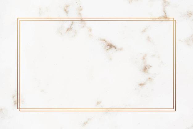 Gouden rechthoekkader op een marmer