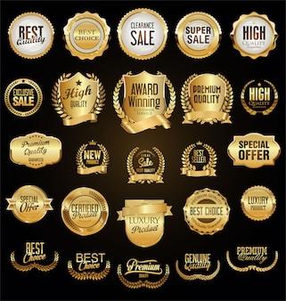 Gouden retro vintage badges en labels
