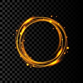 Gouden ring frame illustratie sjabloonontwerp