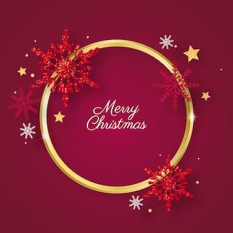 Gouden ring kerstmis