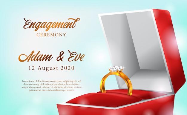 Gouden ring verlovingsceremonie