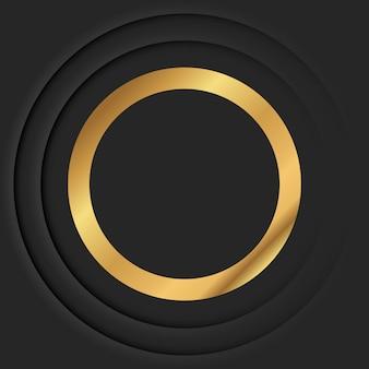 Gouden ronde frame