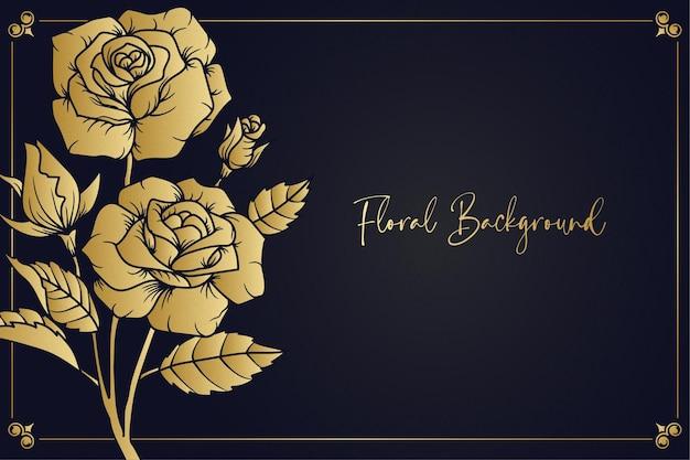 Gouden roos achtergrond