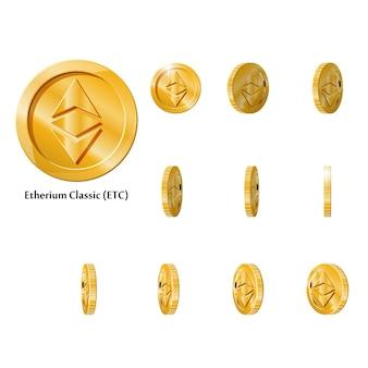 Gouden rotate etherium-munten