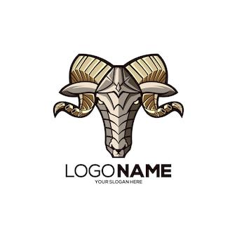 Gouden schapen logo ontwerp