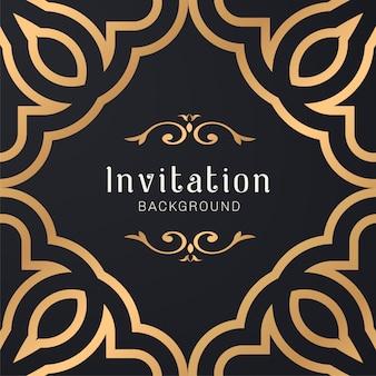 Gouden sier decoratieve frame illustratie