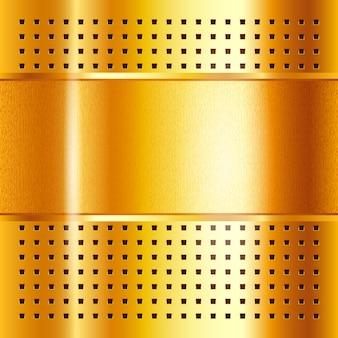 Gouden sjabloon, metalen achtergrond